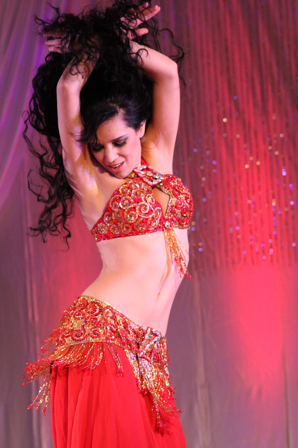 Red Buckle Bella Miami Florida Belly dancer