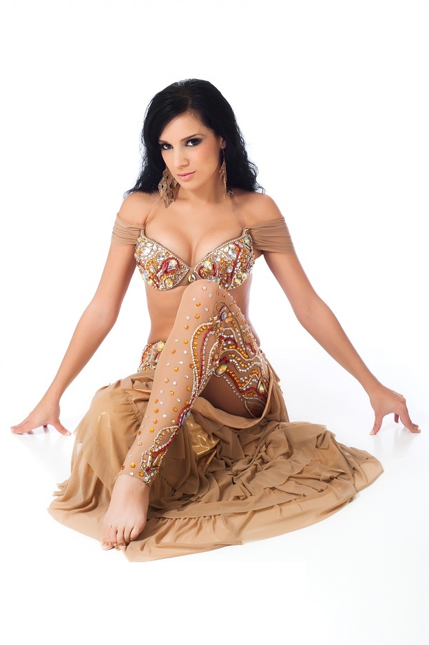 Nude Jewel Encrusted Gomaa South Florida Belly dancer