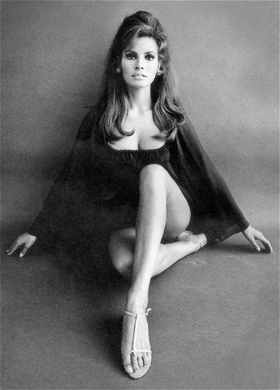 And Raquel Welch with her fabulous hair (cause unless you're a vintage freak like me you have no idea who this chick is)