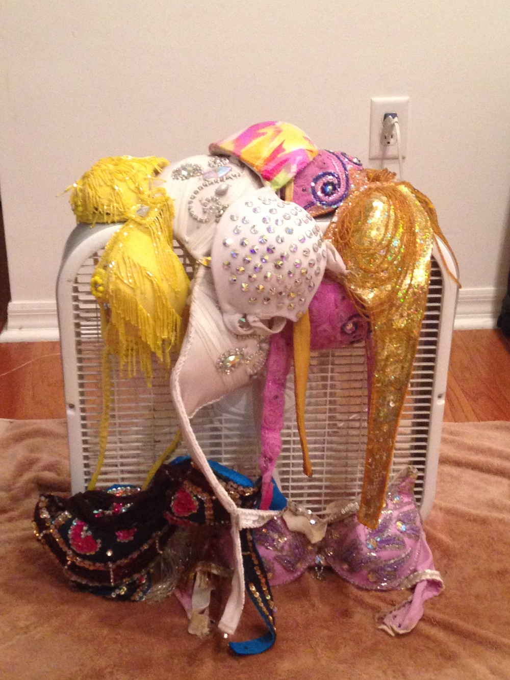 box fan bra drying