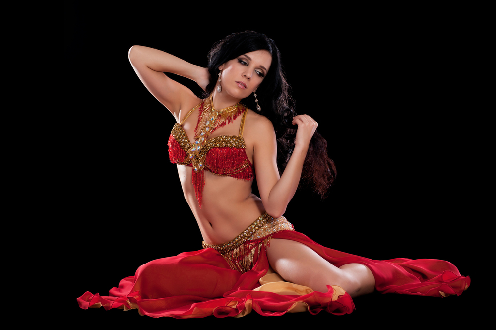 red and god bella belly dance costume