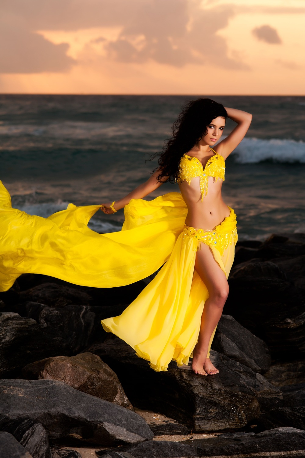 Yellow Bella South Florida belly dancer