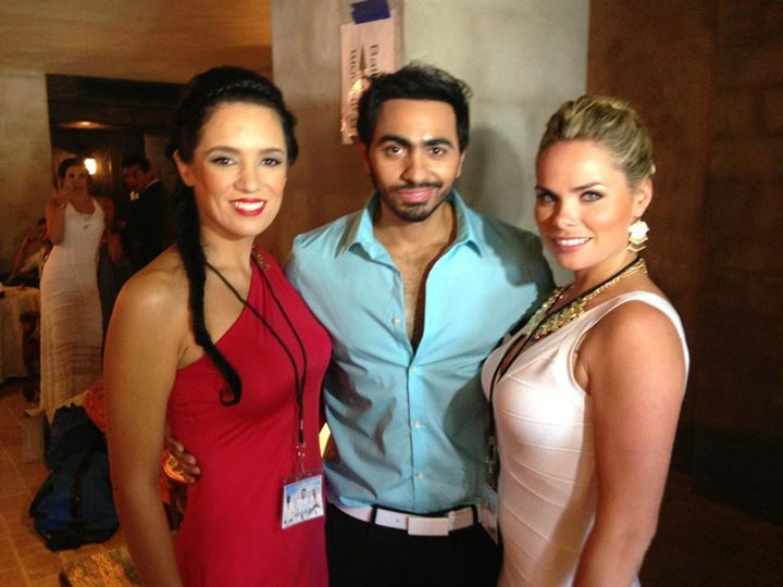 Lauren with Egyptian superstar Tamir Hoseny on his music video Arabian Knight