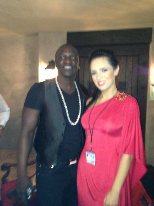 Lauren with Akon in his collaboration with Tamir Hoseny