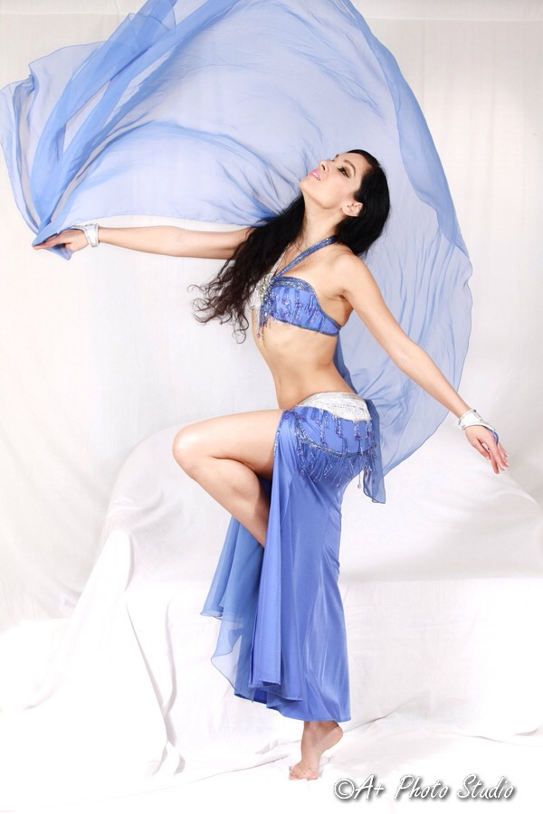 Periwinkle and White Bella Bellydance Costume
