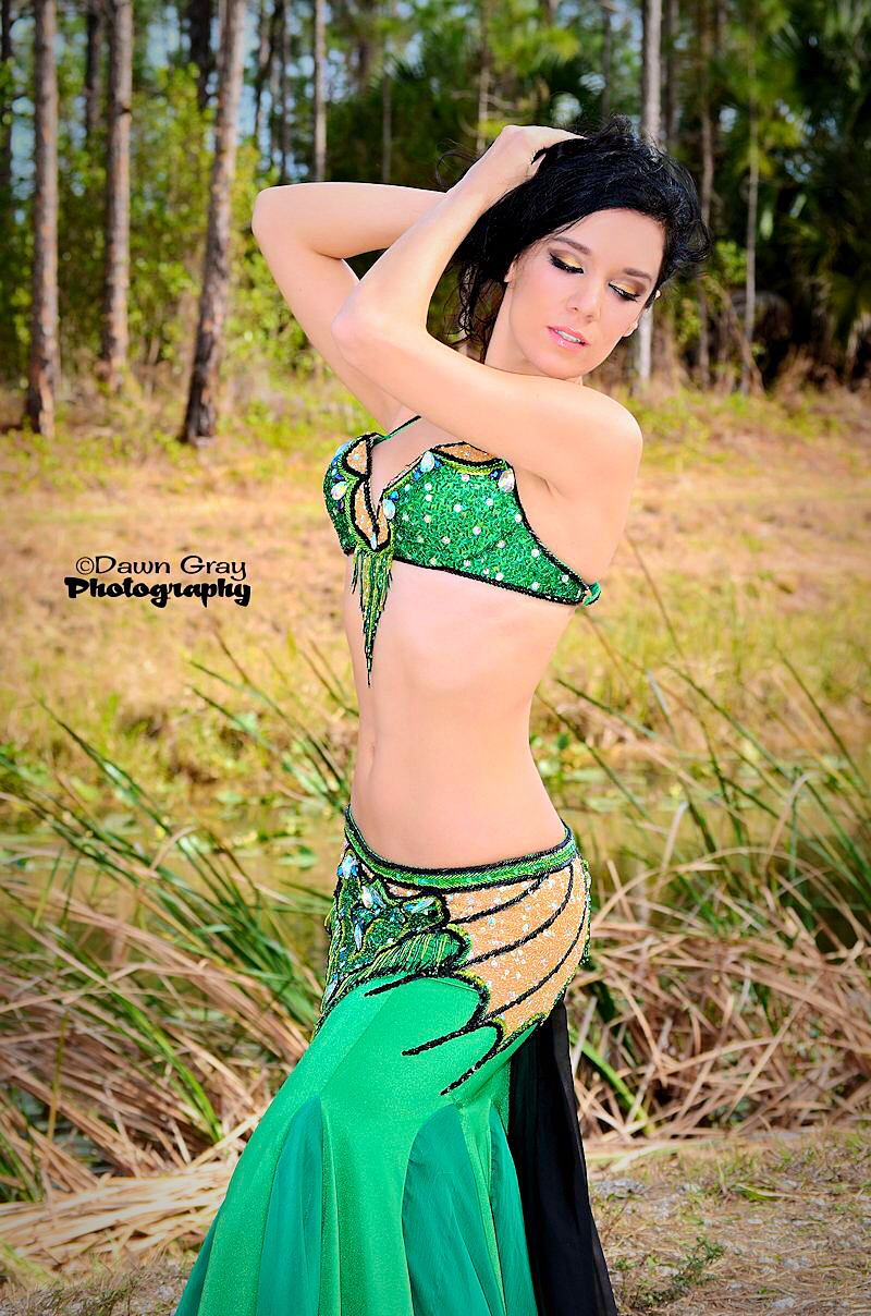 Emerald Dragon Belly Dance Costume