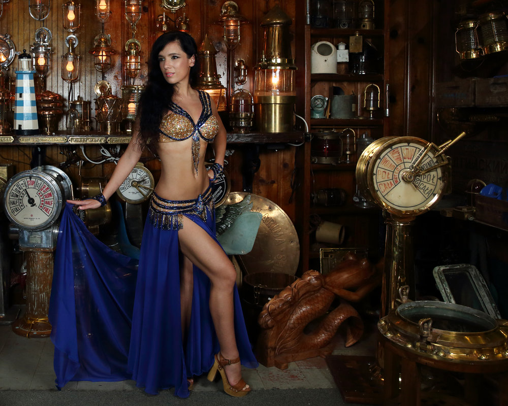 Sapphire Blue Bella Belly Dance Costume North Palm Beach