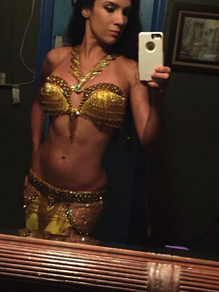 Gold and Yellow Bella BellyDance Costume