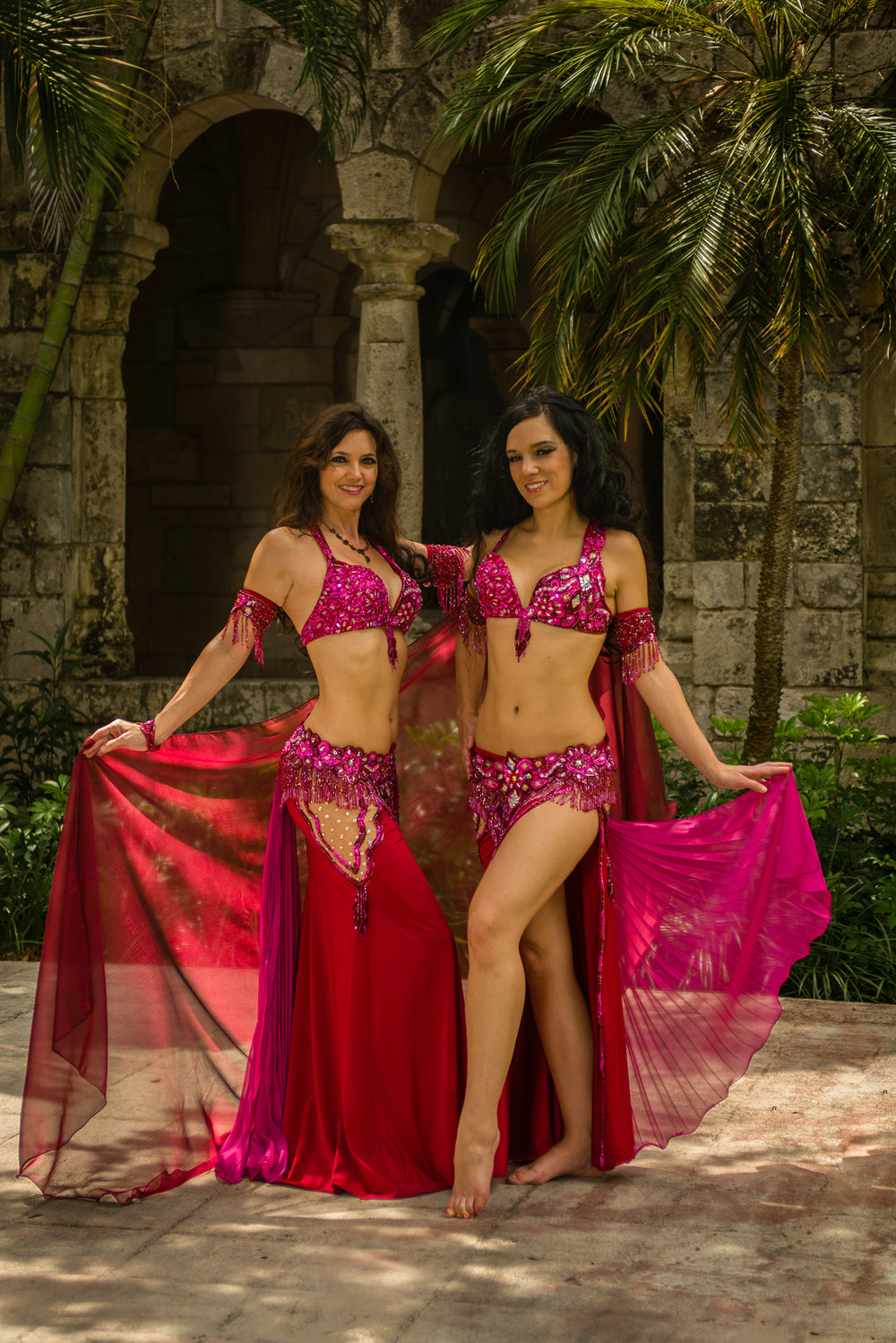 Wine and Rose Romance Bella Belly Dance Costume Miami Belly Dancer