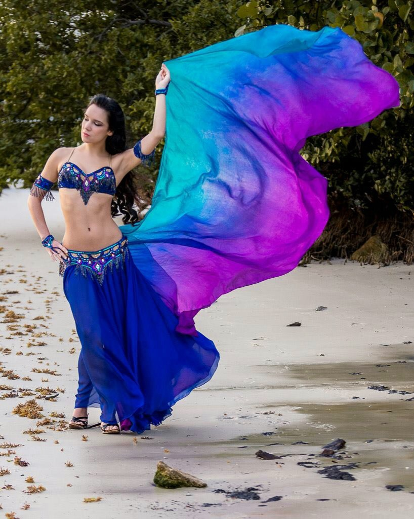 Nyx Blue and Purple Bella Belly Dance Costume