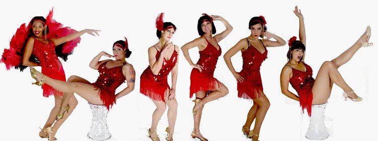 Burlesque Flapper Can Dancers Cheeky Belly Dancer Fire