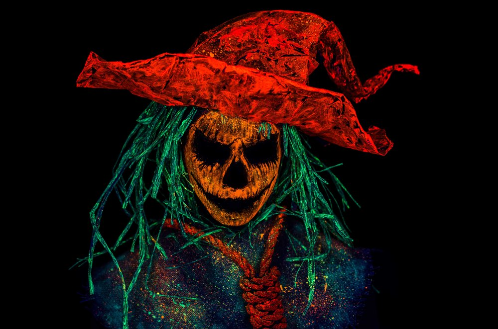 Black Light Halloween Scarecrow