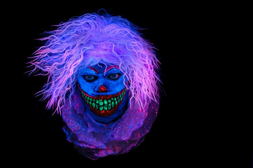 Black Light Halloween Clown