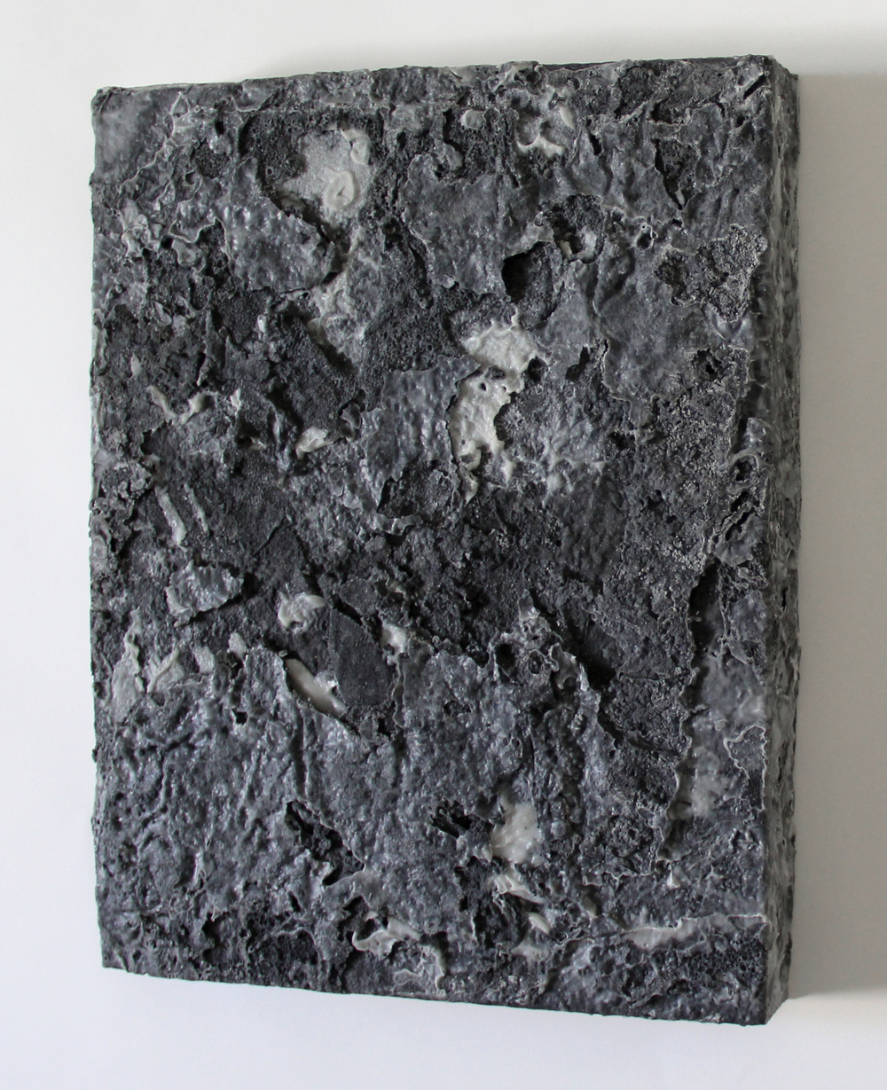 graphite4   2014   graphite, sugar, acrylic on wood   14 x 11 x 0.75 inches