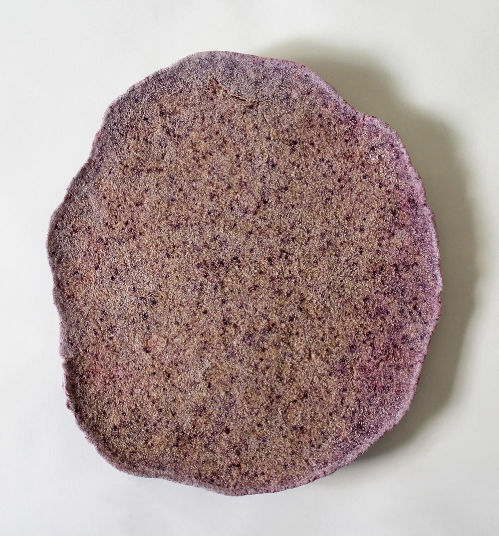 salt glob2  2014  salt, flour, hibiscus  13 inches diameter
