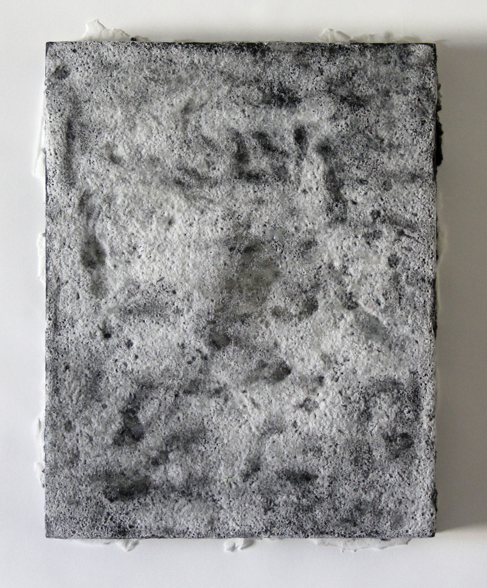 borax 1   2014   borax, graphite, acrylic on plexiglass   14 x 11 x 1.5 inches