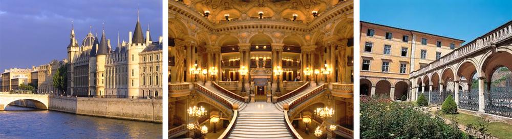 La Conciergerie, Paris  / L'opéra Garnier, Paris  /   Conservatoire National Supérieur de Musique de Lyon