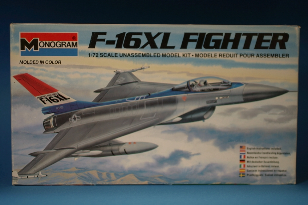 Monogram's 1/72 F-16XL kit #5206 circa 1983.