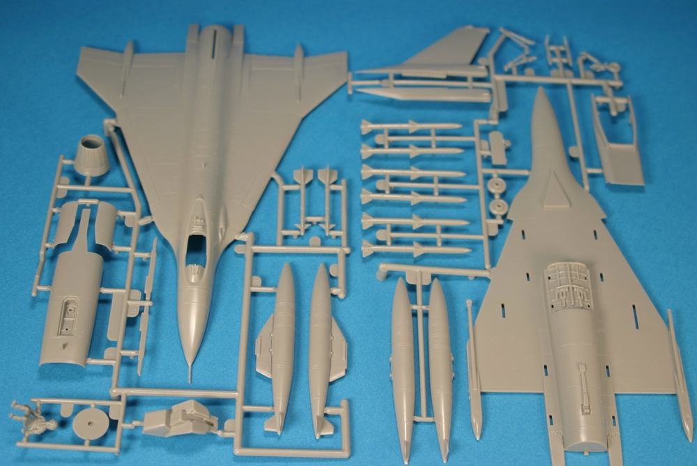The original sprue or parts tree.  Molded in typical grey plastic and a tinted canopy.  A neat find worth having your 1/72 modern military aircraft collection.