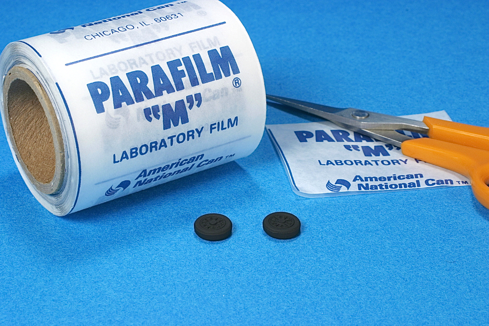 Masking and painting tires with Parafilm-M