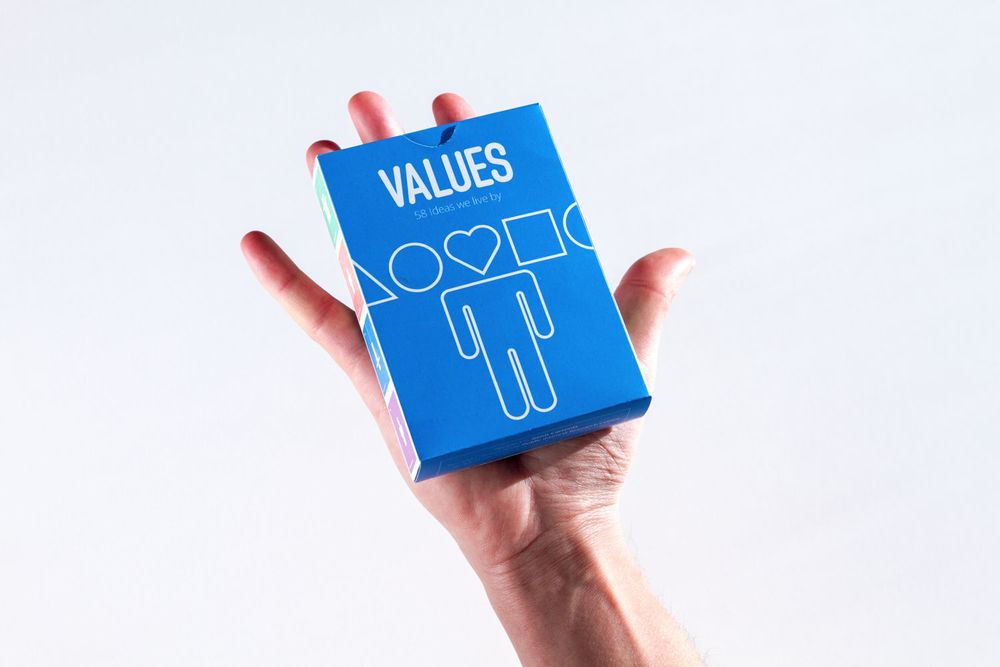 "Product pictures and video for the promotion of the project ""Values: 58 Ideas We Live By"" in Kickstarter. Make sure you check it!   kickstarter.com/projects/geniscarreras/values-58-ideas-we-live-by   Love. Creativity. Enjoyment. Curiosity. Friendship. Spirituality. Psychological research shows that we are all driven by the same things - but differ in how we prioritise them. 58 values guide every aspect of our lives, shaping who we are both personally and as a society.  This research inspired designer Genis Carreras ( geniscarreras.com ) - creator of Philographics - to produce The Values Deck: an accessible, user-friendly set of cards that make visible these invisible drivers of human behaviour."