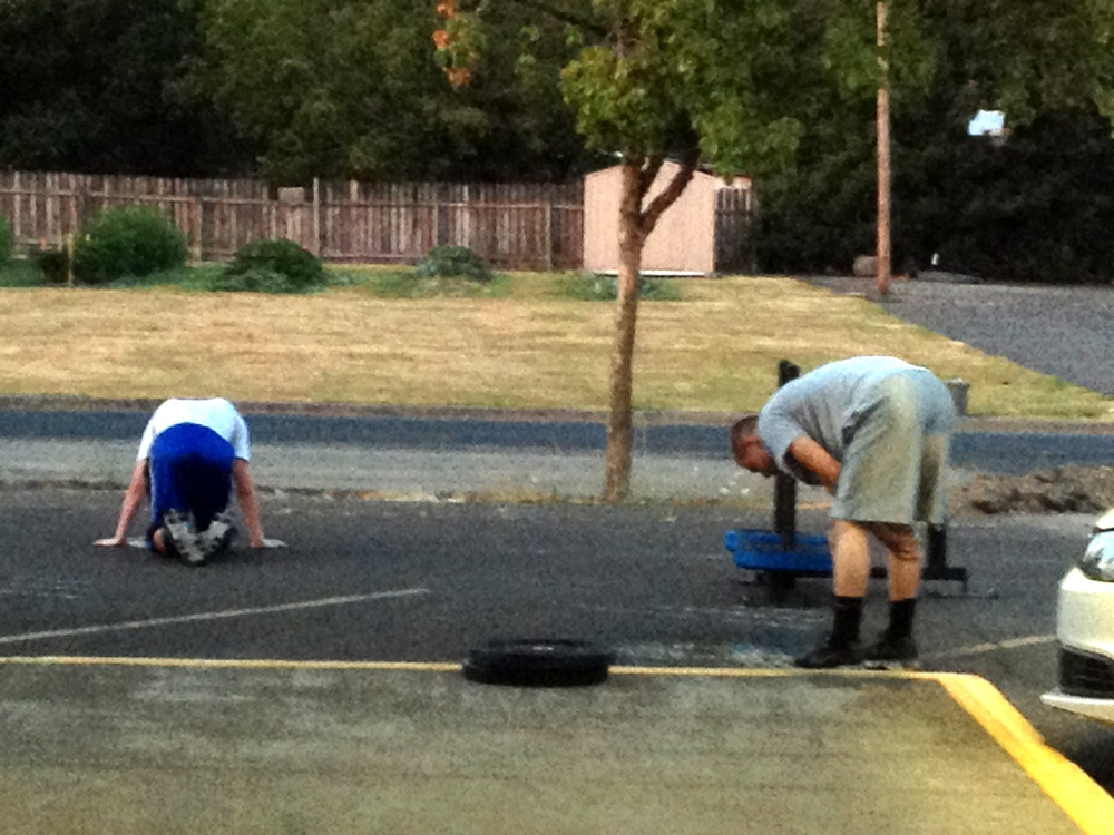 John and Riley after getting after it on the Prowler during an early morning workout!