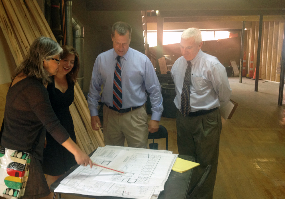 Mayor David Narkowitz and Economic Development Director Terry Masterson visit
