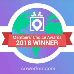 2018 Coworker Members' Choice Awards Winner Voted #1 Coworking Space in Northampton- 2018 -