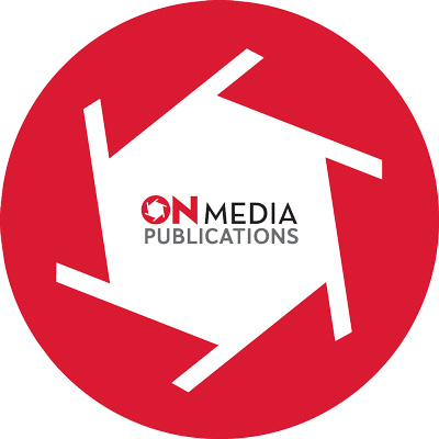 ON Media's logo from 2008 to 2018.