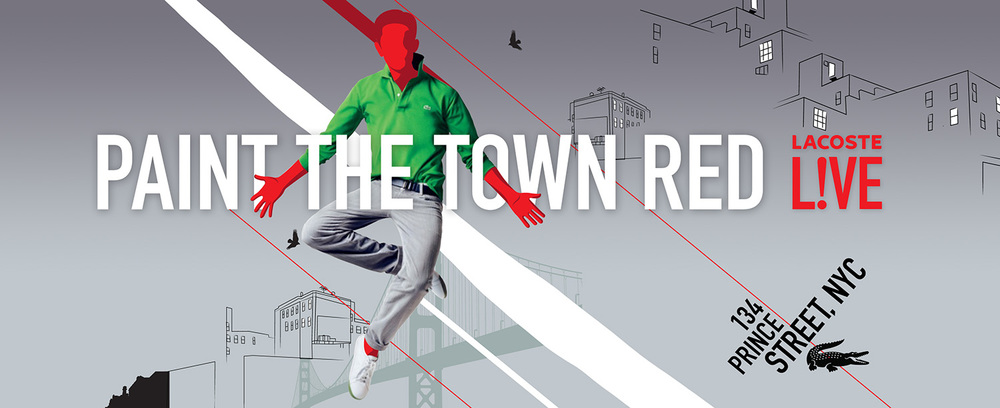 """PAINT THE TOWN RED"" billboard"