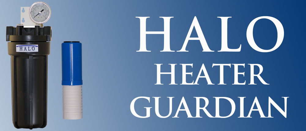 Designed especially for water heaters, the HALO Heater Guardian combines Sediment Filtration with a Scale Inhibitor to protect and extend the life of your tank or tankless water heater.  For more information click here.