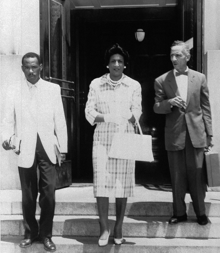 Seen above are Meredith (left), and his attorneys Constance Baker Motley (center) and  R. Jess Brown  (right) on June 1, 1961.  Mr. Brown  filed some of the first Civil Rights lawsuits in Mississippi in the late 1940s and 1950s. In addition to Meredith,  Mr. Brown worked with the LDF  fighting discrimination in transportation and other public accommodations in 1960s.