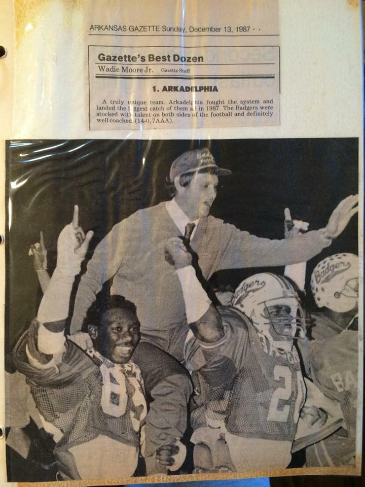 The '87 Badgers were also the first team in a lower classification to be ranked #1 overall in the state.