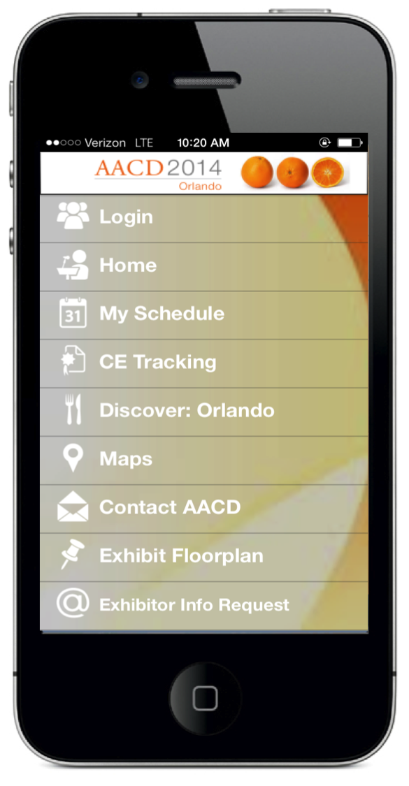 AACD's mobile event planner fully incorporates NFC technology by providing exhibitor information, booth locator, interactive personal meeting agenda and real-time CE credit status right from your smartphone.