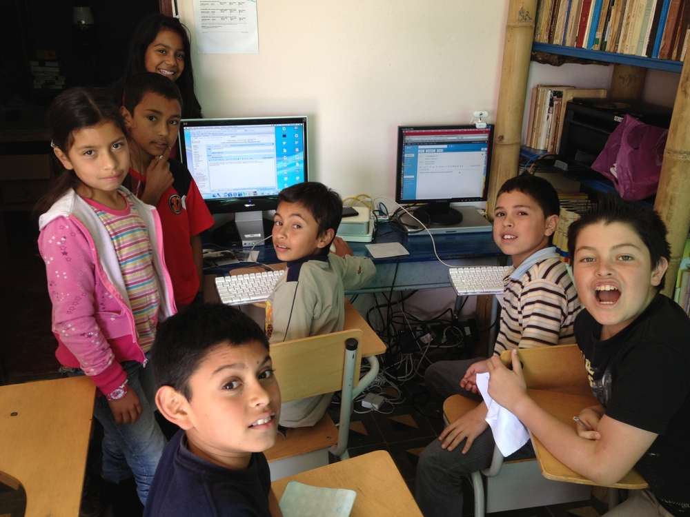 Students in La Florida, Colombia learn to utilize digital media as well as communicate with their partners through Skype thanks to donated computers.