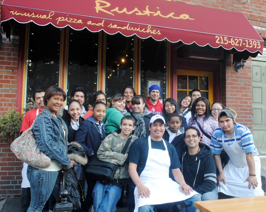 Rustica Pizza   and their owner Frank Maimone have supported us since the beginning!