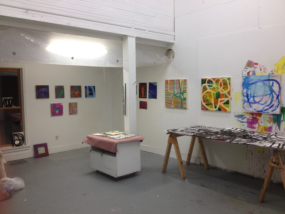 Set up for Open Studio Night.