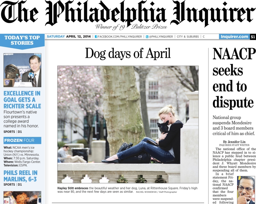 Philadelphia Inquirer. April 12, 2014.