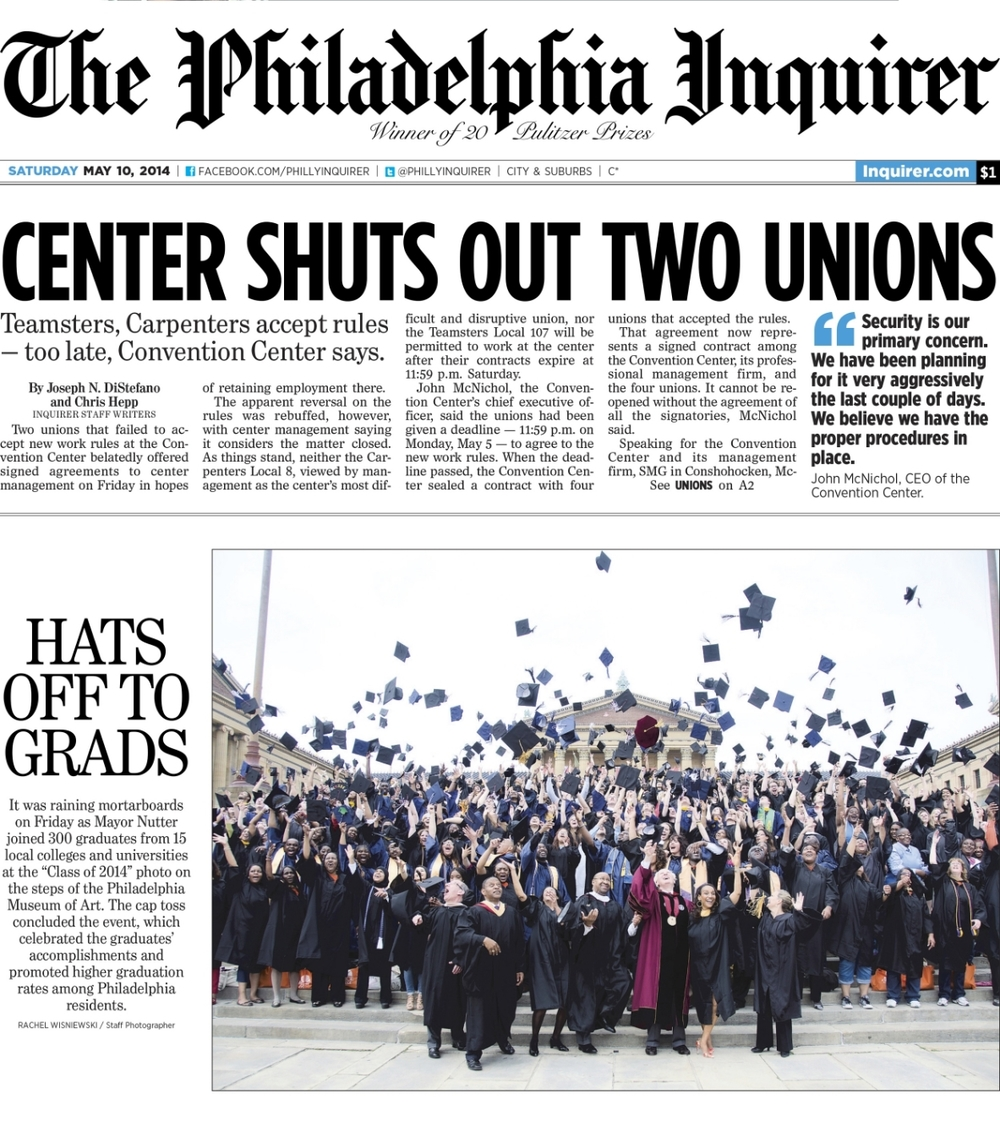 Philadelphia Inquirer. May 10, 2014.