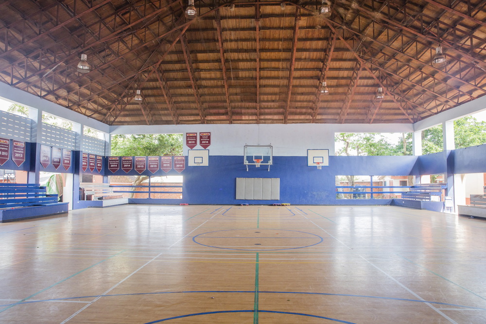 The beautiful basketball court...