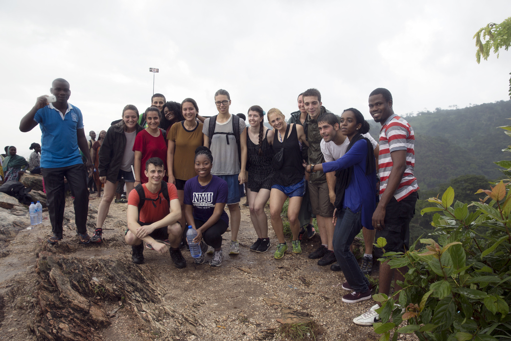 Here are me and my new (soaking wet) friends at the top of Mount Afadjato!