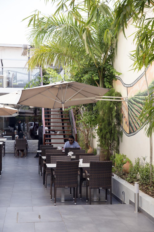 The outside patio of La Piazza.