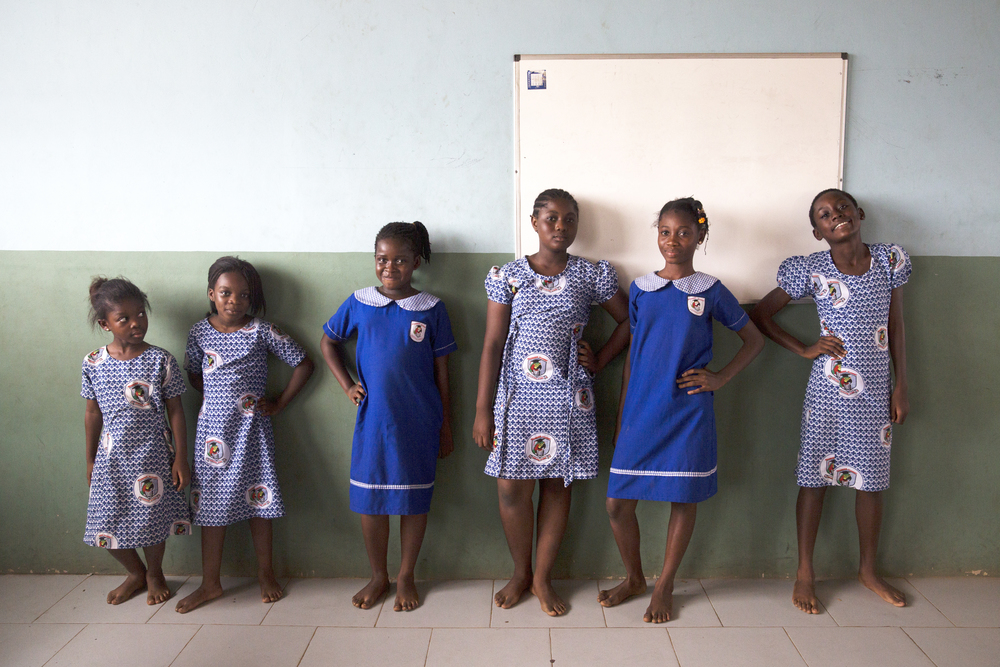 Chelsea, Tracy, Emmanuella, Sandra, Princess, and Ruth strike a pose after giving their individual introductions.