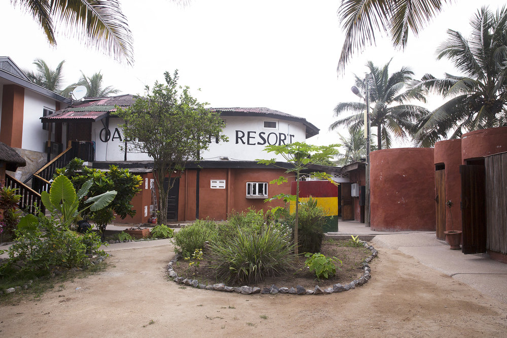 The main building in Oasis Beach Resort, where the reception was located.