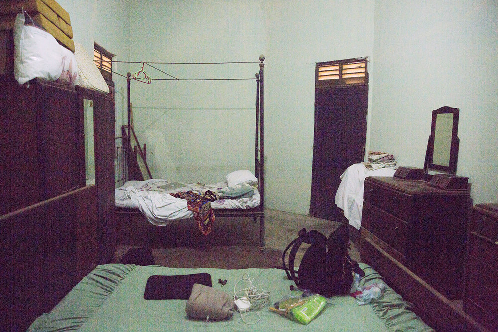 A horrible picture of my amazing room. (As you can see: there was no internal lighting, which is why this image turned out so grainy)