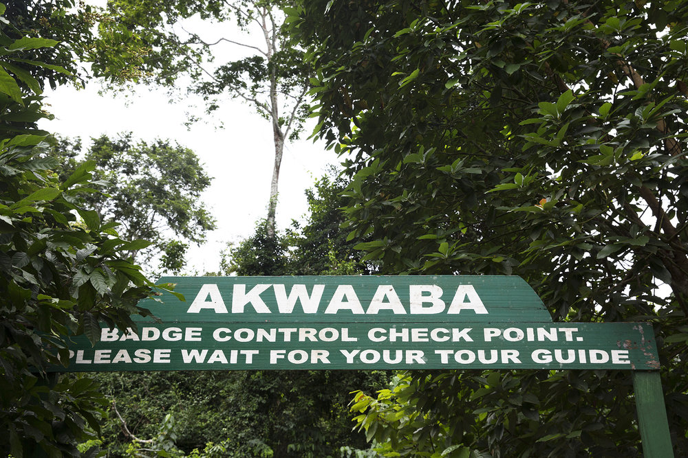 "The entrance to Kakum National Park. (Akwaaba means ""welcome"" in Twi)"
