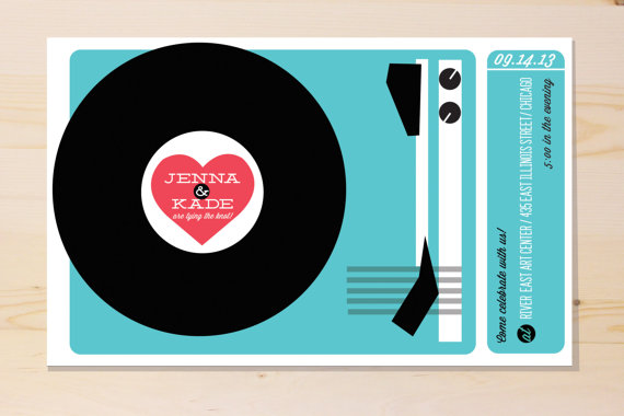 Is music your thing?  Check out this cute invitation by Yes Dear Studio!