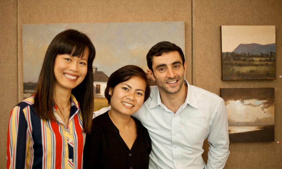 Rachel, Boo and Richard Hearns at Lighthouse International
