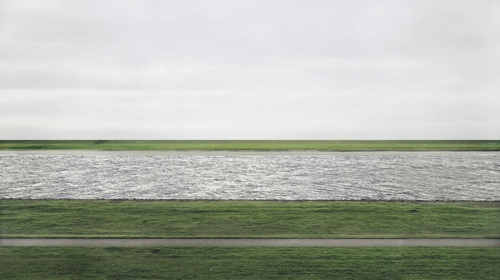 Der Rhine, II  1999 C print on paper 156 x 308 cm