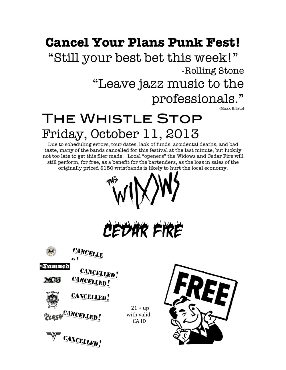 Oct. 11 Whistle Stop Show Flier